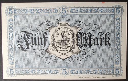 1918 Germany/Erkelenz 5 Mark AU