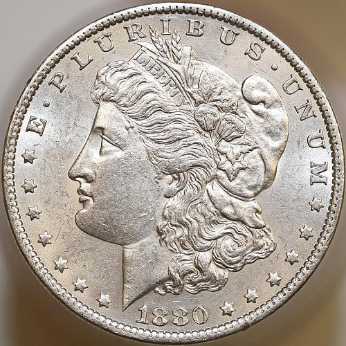 1880 O Morgan Silver Dollar - Micro O - Gem BU / MS / UNC