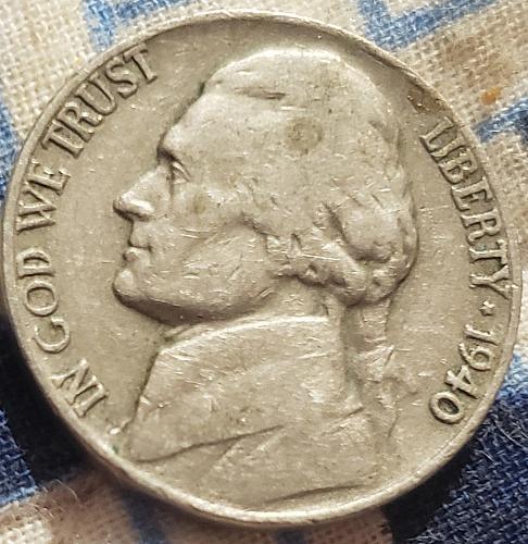US Jefferson Nickel 1940 - VG