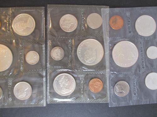 1965 CANADIAN  PROOF SETS, SMALL BEADS - BLUNT 5