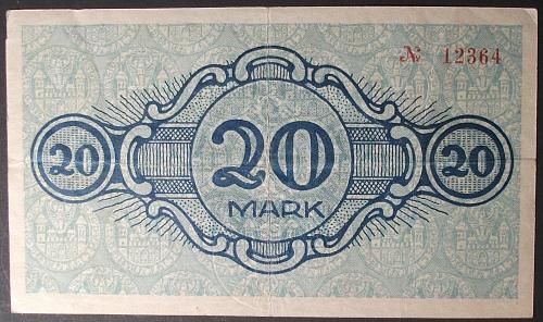 1918 Germany/Cottbus 20 Mark VF