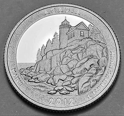 2012-S America The Beautiful Acadia, Maine Quarter Proof [BSWQ 82]