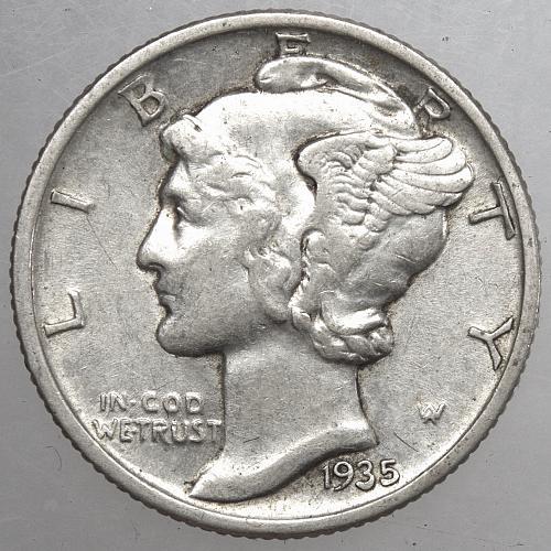 1935 P Mercury Dime #5