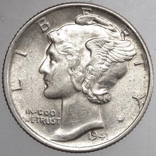1941 P Mercury Dime#5
