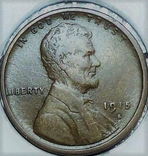 1915-S VF Lincoln Wheat Cent Very Fine ( 273H )