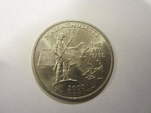 2000 D Massachusetts 50 States and Territories Quarter