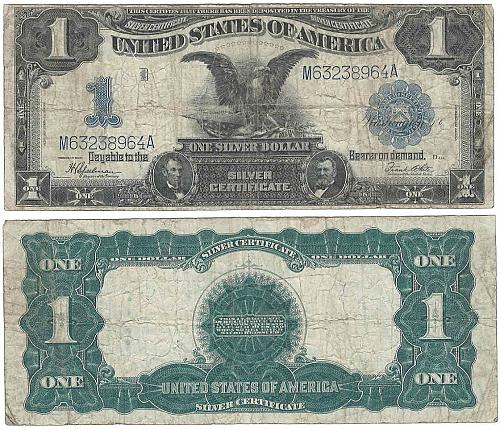 Series of 1899 Large Size $1 Silver Certificate Black Eagle
