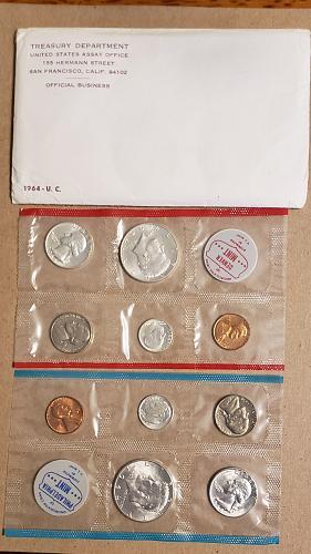 1964 PD Uncirculated Mint Set