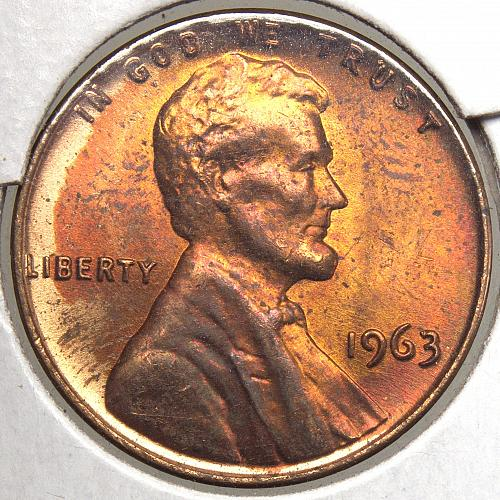 1963 P Lincoln Memorial Cent#9 Toned as Shown