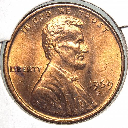 1969 S Lincoln Memorial Cent#9