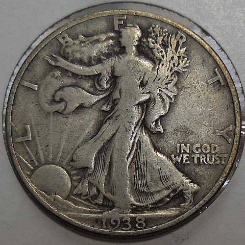 Walking Liberty Half Dollar 1938-P