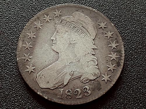 1823 Capped Bust Half Dollar VG