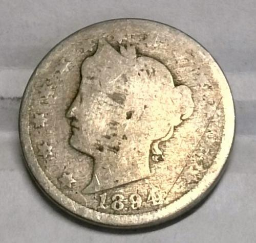 1894 P Liberty Nickel