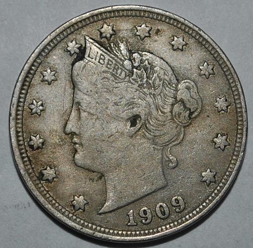 1909 P Liberty Nickel