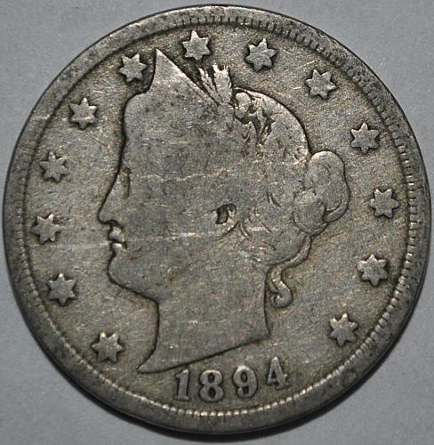 1894 P Liberty Nickel
