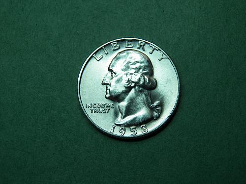 1958 D Washington Quarter Gem Uncirculated Coin   v46