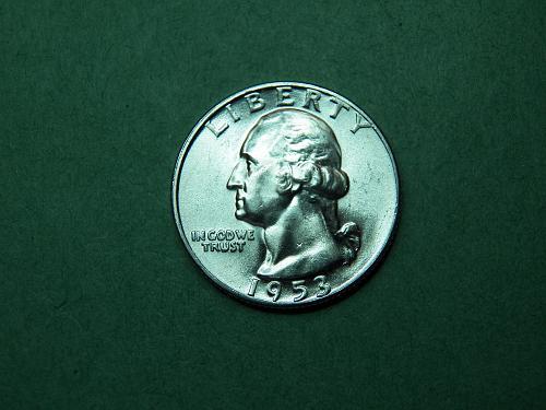 1953 P Washington Quarter Brilliant Uncirculated Coin  v48