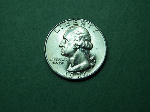 1954 D Washington Quarter Gem Uncirculated Coin   v65