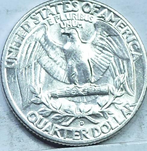 1960-D ABOUT UNCIRCULATED Washington Quarter AU ( 156)