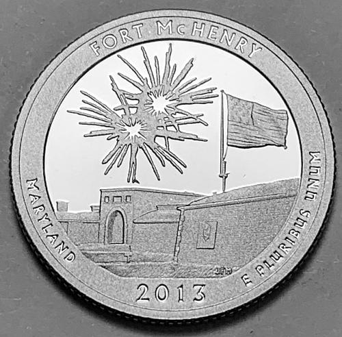 2013-S Proof Quarter America The Beautiful: Fort McHenry [BSWQ 86]