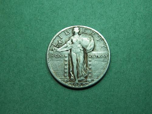 1929 D Standing Liberty Quarter Very Fine Coin   v62