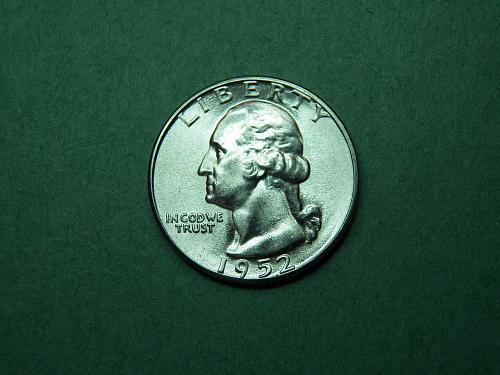 1952 P Washington Quarter Brilliant Uncirculated Coin   v64