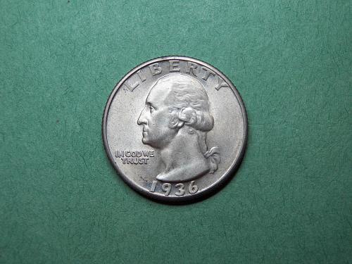 1936 P Washington Quarter AU Coin   v68