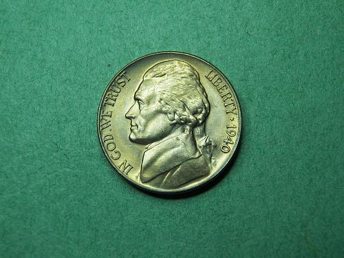 1940 D Jefferson Nickel BU Coin   v50
