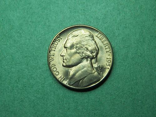 1951 D Jefferson Nickel Brilliant Uncirculated Coin   v60