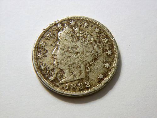 1892 Liberty V Nickel