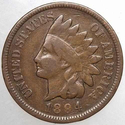 1894 P Indian Head Cent #32 Natural Brown