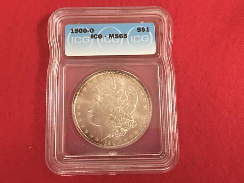 1900 O Morgan Silver Dollar ICG MS65 Beautiful High Grade Mint State BU Uncircul