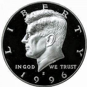 PROOF 1996-S KENNEDY HALF DOLLAR