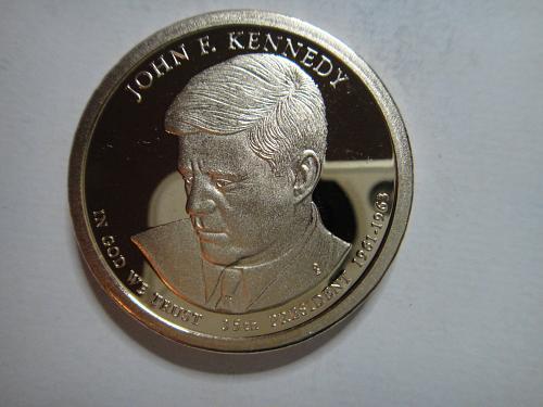 2015-S Kennedy Presidential Dollar Proof-64 (Near Gem)