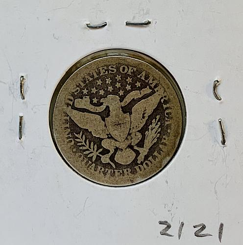 1898 P  Barber Quarter in Very Good Condition B 498