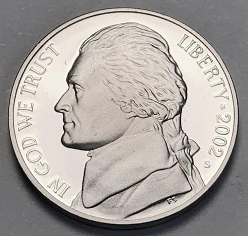 2002-S Proof Jefferson Nickel [SVB 44]