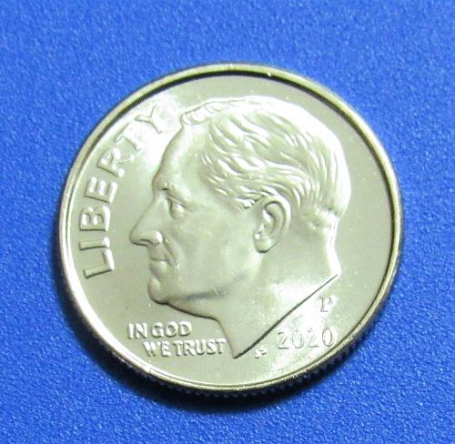 2020-P 10 Cents Roosevelt Dime - Uncriculated from Mint Roll