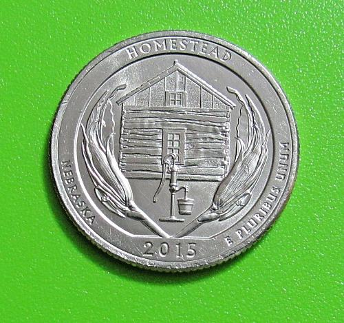 2015-D 25 Cents Homestead Nebraska National Park America the Beautiful Quarter