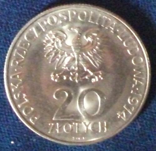1974MW Poland 20 Zlotych BU