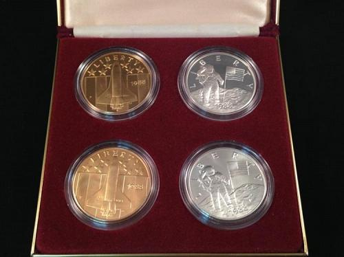 1988 Young Astronauts America in Space 4 Coin Set