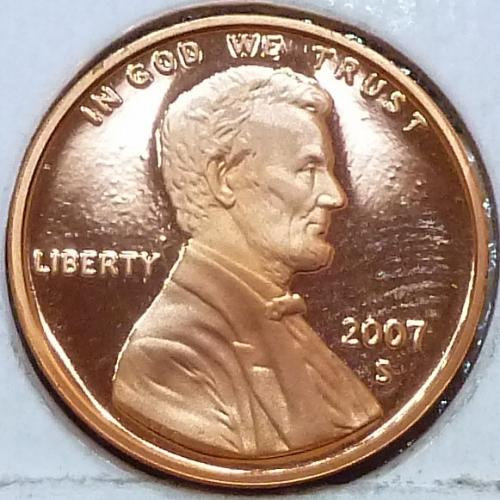 2007-S  Gem Proof Cent Memorial Lincoln Cent (101)
