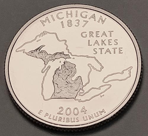 2004-S Proof Washington Quarter: 50 States- Michigan [BSWQ 96]