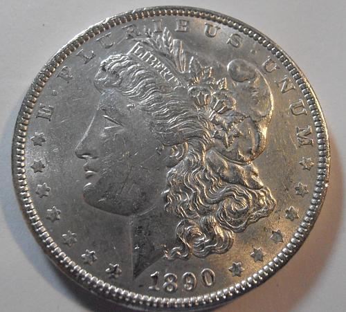 1890 P P BU Morgan Silver Dollar -  (90P11)