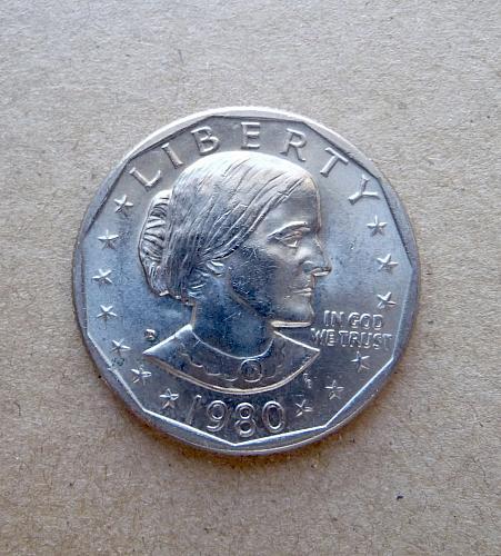 1980-D S B Anthony Dollar