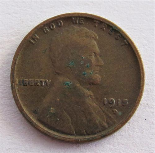 1915-D 1 Cent - Lincoln Wheat Cent