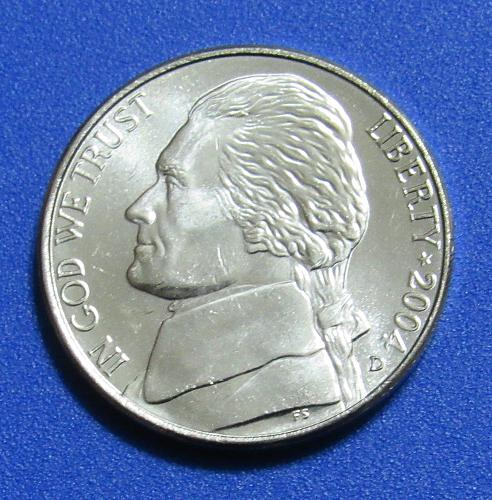 2004-D 5 Cents - Jefferson Nickel - Keelboat - Uncirculated from Mint Roll