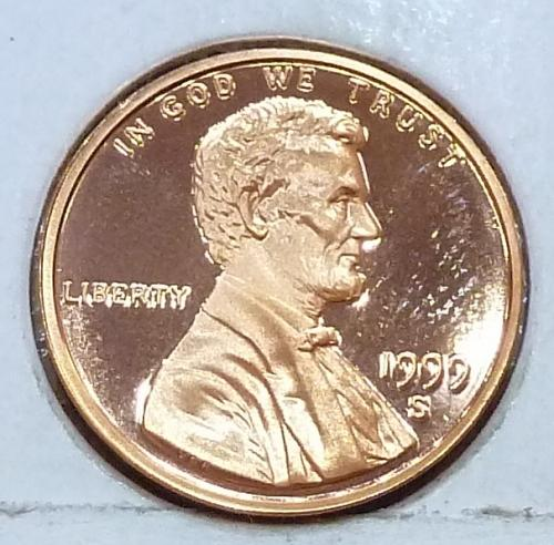 1999-S  Gem Proof Cent Memorial Lincoln Cent (224-M)
