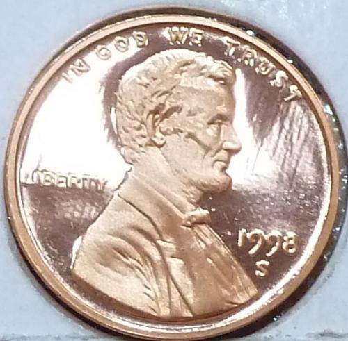 1998-S  Gem Proof Cent Memorial Lincoln Cent (224-E)