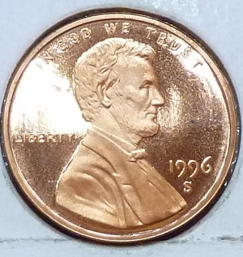 1996-S  Gem Proof Cent Memorial Lincoln Cent (224-B)