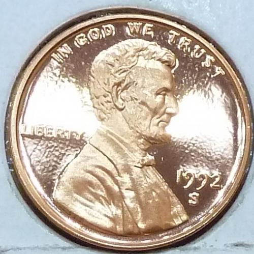 1992-S  Gem Proof Cent Memorial Lincoln Cent (223-P)